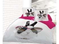 lit conforama parure housse de couette 240x220 cm 2 taies d 39 oreiller 63x63 cm. Black Bedroom Furniture Sets. Home Design Ideas