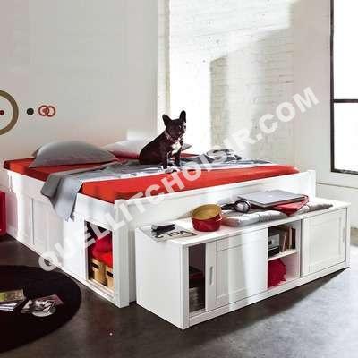 lit lit plateforme 2 persoes en 140 39 39 2 en 1 39 39 certifi avec maxi rangements. Black Bedroom Furniture Sets. Home Design Ideas