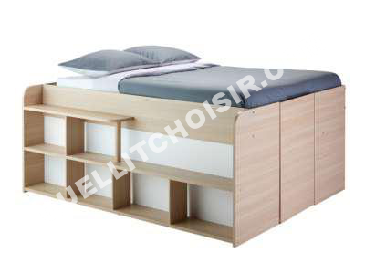 lit lit 140 x 190 cm space up bla et ch ne m g ve au meilleur prix. Black Bedroom Furniture Sets. Home Design Ideas