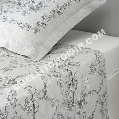 lit 3 suisses collection drap 1 ou 2 persoes coton imprim gris style toile de. Black Bedroom Furniture Sets. Home Design Ideas