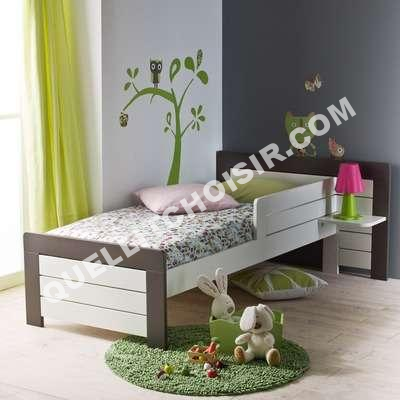 lit 3 suisses collection petit lit barri re s curit et chevet int 70 x 160. Black Bedroom Furniture Sets. Home Design Ideas