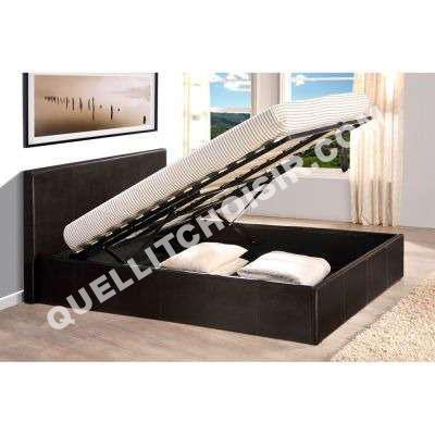 lit 3 suisses collection skon lit coffre 140x190 pvc avec. Black Bedroom Furniture Sets. Home Design Ideas