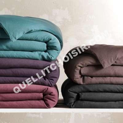 lit bensimon housse de couette en pur lin stone washed au meilleur prix. Black Bedroom Furniture Sets. Home Design Ideas