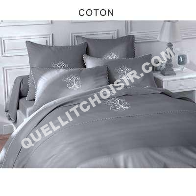 lit bouchara collection drap plat pur coton gris perle manoir de bouchara au me. Black Bedroom Furniture Sets. Home Design Ideas