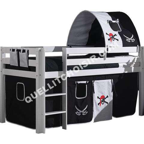 lit cars lit enfant sur lev pirate h tre massif bla. Black Bedroom Furniture Sets. Home Design Ideas