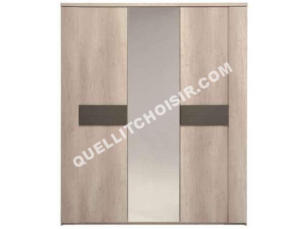 lit conforama armoire 2 portes 1 porte miroir anouk au. Black Bedroom Furniture Sets. Home Design Ideas