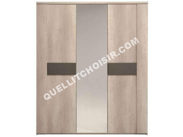 affordable conforama armoire portes porte miroir anouk. Black Bedroom Furniture Sets. Home Design Ideas