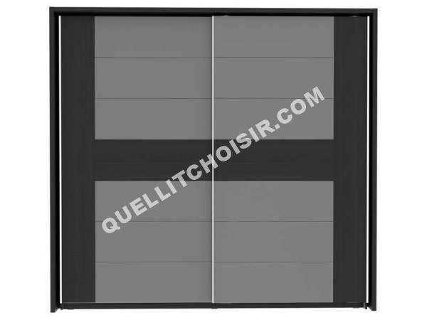 CONFORAMA Armoire 2 Portes Coulissantes DOLCE BLACK EDITION