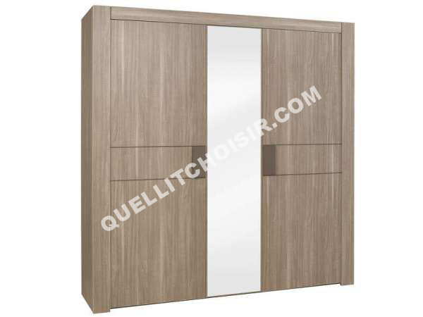 Awesome chambre a coucher conforama moka gallery design for Armoire conforama 3 portes coulissantes