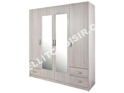 conforama armoire portes tiroirs dcor imion acacia with. Black Bedroom Furniture Sets. Home Design Ideas