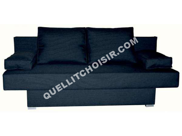 lit conforama banquette lit clic clac nelly coloris noir au meilleur prix. Black Bedroom Furniture Sets. Home Design Ideas