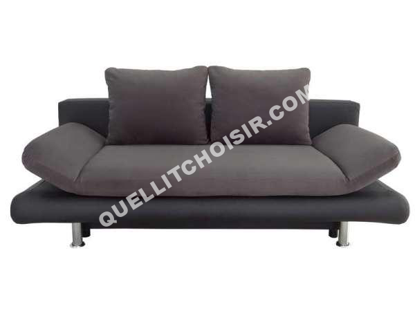 lit conforama banquette lit clic clac flamingo coloris gris noir au meilleur. Black Bedroom Furniture Sets. Home Design Ideas