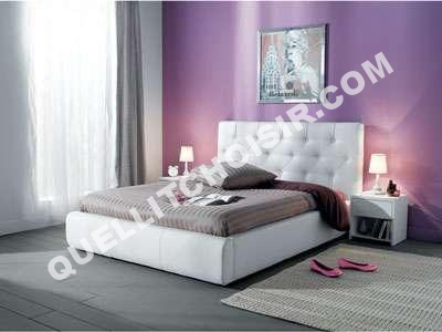 lit conforama lit 140 x 190 cm roxana coloris bla au meilleur prix. Black Bedroom Furniture Sets. Home Design Ideas
