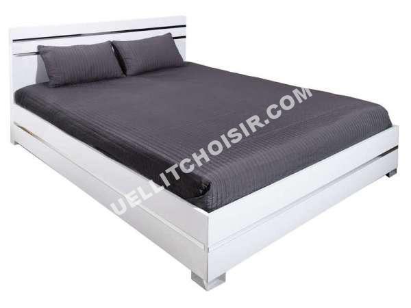 lit conforama lit 160x200 cm glass coloris bla au meilleur prix. Black Bedroom Furniture Sets. Home Design Ideas