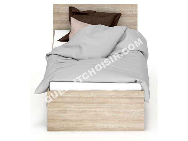 lit conforama lit 90x190 cm 2 tiroirs detroit coloris ch ne shaon bla au m. Black Bedroom Furniture Sets. Home Design Ideas