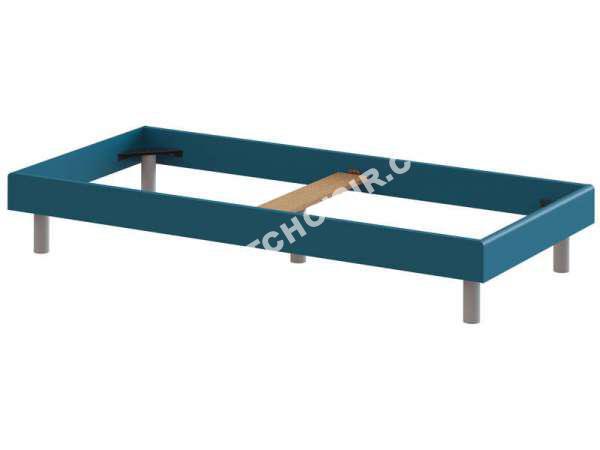 lit conforama lit 90x200 cm moby coloris bla et bleu au meilleur prix. Black Bedroom Furniture Sets. Home Design Ideas