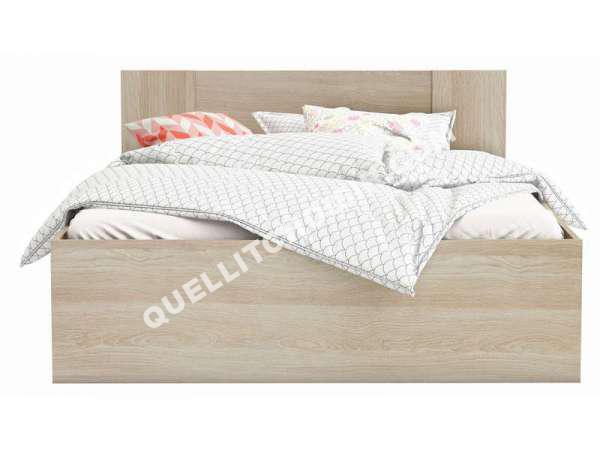 lit conforama lit adulte 140x190 cm detroit au meilleur prix. Black Bedroom Furniture Sets. Home Design Ideas