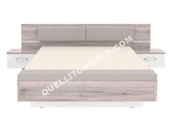 lit conforama lit adulte 160x200 cm ch ne dolce au. Black Bedroom Furniture Sets. Home Design Ideas