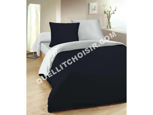 perfect conforama parure housse de couette x cm taies duoreiller x cm bicolore with conforama. Black Bedroom Furniture Sets. Home Design Ideas