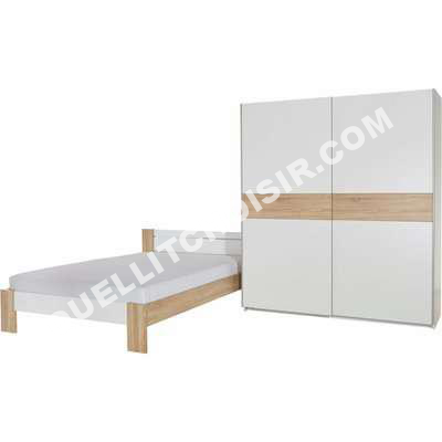 Lit Marque Anonyme Ensemble Lit 2 Persoes Armoire Penderie