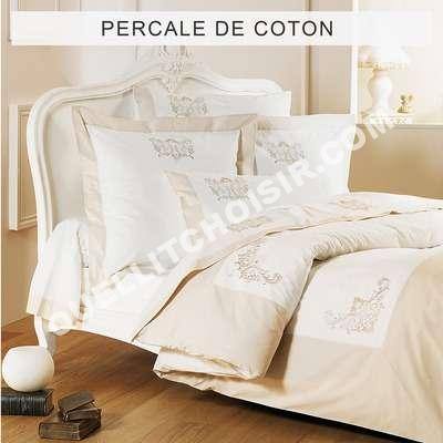 lit tradition des vosges housse de couette percale de coton brod e 39 39 bijoux 39 39. Black Bedroom Furniture Sets. Home Design Ideas